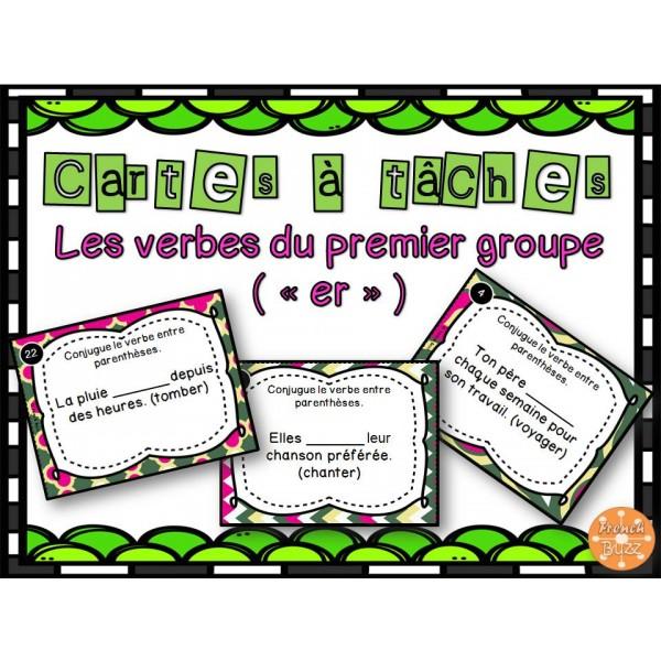 Les verbes du 1er groupe er cartes t ches for Portent verbe