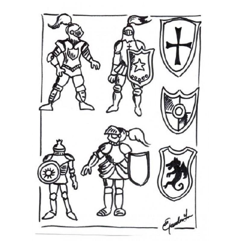 Chevalier et armure projet d 39 arts plastiques - Dessin armure ...