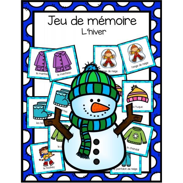Jeu de mémoire - l'hiver