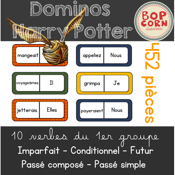 Dominos Harry Potter - Verbes 1er groupe