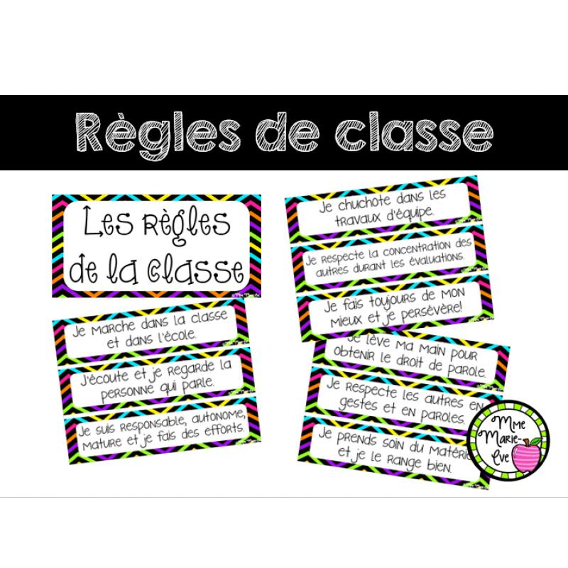 R gles de la classe affiches rentr e scolaire - Decoration des classes pour la rentree scolaire ...