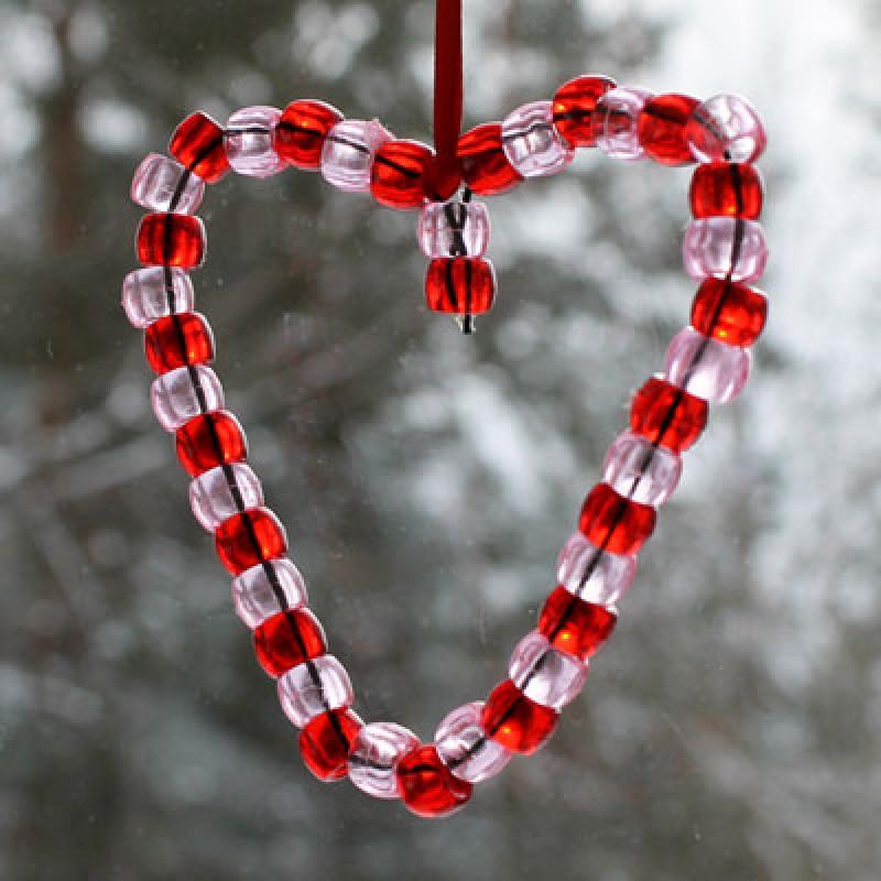 Bricolage avec des perles pour la st valentin - Bricolage st valentin ...