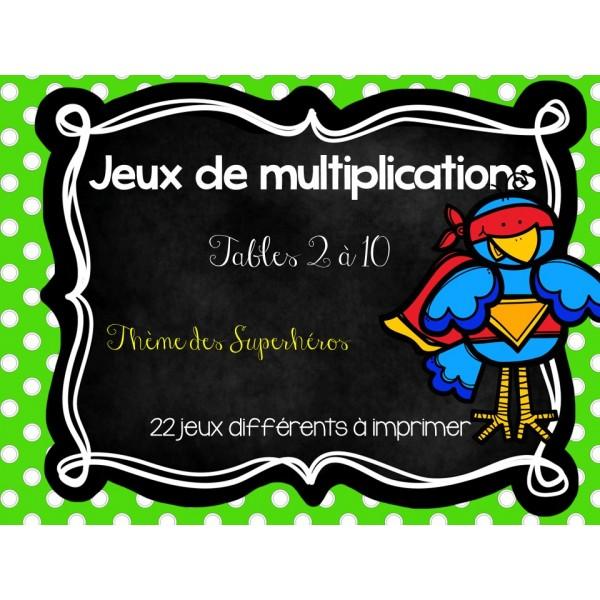 Jeux sur les multiplications for Les jeux de multiplication