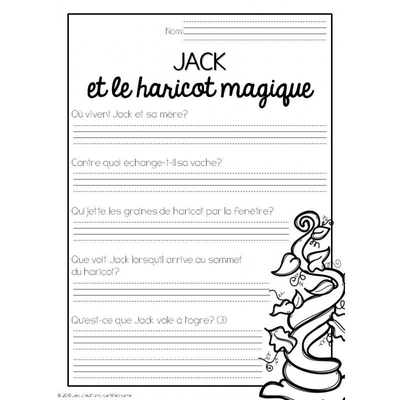 Trousse de lecture jack et le haricot magique - Effroyables jardins questionnaire de lecture ...